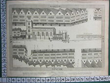 1814 DATED ANTIQUE LONDON PRINT ~ NORTH & SOUTH STREET PLAN WEST-CHEAP (1585)