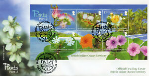 BIOT Brit Indian Ocean Ter 2018 FDC Plants Pt II 6v M/S Cover Flowers Stamps
