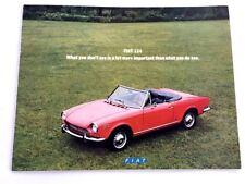 1970 Fiat 124  14-page Original Sales Brochure Catalog - Spider Sport Coupe