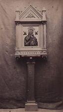 Icone de la Vierge Marie Russe Grecque Russie Grece Vintage albumen ca 1875