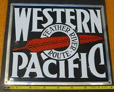 Microscale Medel Sign #10008 Western Pacific (Die Cut, Embossed Metal Sign)