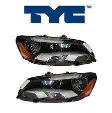 NEW Volkswagen Passat 2012-2014 Set Pair Of 2 Headlight Assemblies TYC