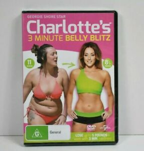 Charlottes 3 Minute Belly Blitz DVD Fitness Health Geordie Shore PAL Free Post