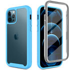 For iPhone 12 Mini/12/12 Pro Max/11/8 Clear Case With Built in Screen Protector