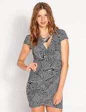 Polyester Geometric Work Wrap Dresses