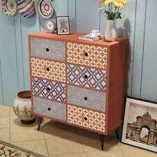#vidaxl Storage Cabinet Sideboard Buffet 8 Drawers Hallway Living Room Brown