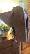Vintage 1960s  Suede Cape Coat. Mod. Lace up Sides. . M-L