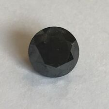 Loose 1.90 Carat Round Brilliant Cut Fancy Diamond Colour: Black  IDRC Report