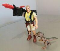 Rare Jurassic Park Robert Muldoon Figure + all original accessories Kenner 1993