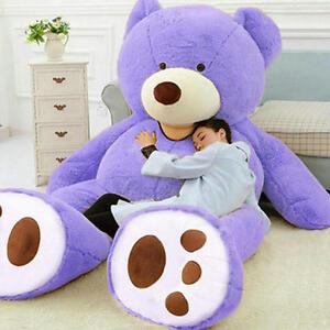 "78""/200cm Giant Huge Big Purple Teddy Bear Plush No Filler Animal Soft Toy Gifts"