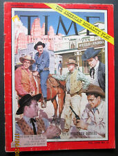 JAMES ARNESS,RICHARD BOONE (SPECIAL 1959 TIME MAGAZINE) ON WESTERN TV SHOWS