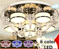 Remote control LED crystal Ceiling Fixtures Dining Room living room ceiling lamp