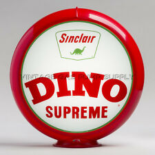 "Sinclair Dino Supreme 13.5"" Gas Pump Globe w/ Red Plastic Body (G426)"