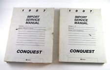 1987 CHRYSLER CONQUEST IMPORT SERVICE MANUAL VOL 1 & 2 OEM ENGINE CHASSIS A/C +