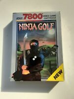 Atari 7800 Ninja Golf NIB/CIB NEW SEALED R4 Scarce+ Hangtab