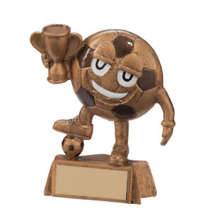Happy Little Football Trophy Award 90mm PACK OF 2 - FREE ENGRAVING