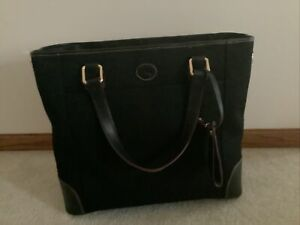 DOONEY & BOURKE Newport Tote All Black Canvas Leather Shoulder/Carry-On NWT $358