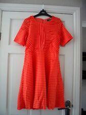 ASOS - Gorgeous orange metallic ruffle fit & flare dress size 10 new