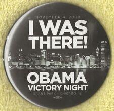 "2008 Barack Obama 3"" / ""Victory Night - Grant Park CHI"" Souvenir Button(Pin 09)"