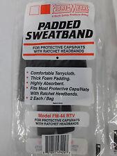 FIBRE-METAL Lot of 2 Padded Sweatband for Hardhats Hats Caps w/Ratchet Headbands