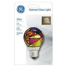 "GE Stained Glass Light ""Tiffany"", A19, 25W Incandescent, Hand Painted (46645)"