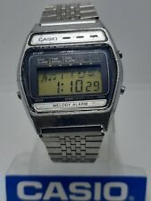 Vintage Casio Quartz 408 M 621 Japan Melody Alarm Watch