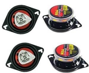 """BOSS CH3220 3.5"""" 2-Way 280W Car Audio Coaxial Speakers Red Stereo 4 Ohm"""