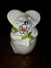 New listing Vintage Laurie Gates Hand Painted Ceramic Mouse Parmesan Cheese Shaker