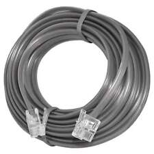 25 FT Feet RJ11 4C Modular Telephone Extension Phone Cord Cable Line Wire Gray
