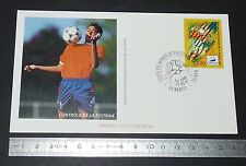 ENVELOPPE 1er JOUR PHILATELIE 1997 FRANCE 98 COUPE MONDE FOOTBALL NANTES