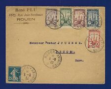 FRANCE 1922 - PRECURSEURS DE POSTE AERIENNE - MEETING D'AVIATION DE ROUEN - RARE