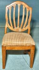 SIDE CHAIR HONEY PINE VINTAGE DELUXE EDITION  #411 DOLLHOUSE FURNITURE