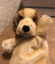 STEIFF 1957-64 Cockie Dog Hand Puppet ~ Adorable Mohair Vintage German Puppy