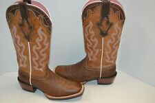 ARIAT 10004817 Womens 6.5 B Crossfire Caliente Tan Leather Cowgirl Western Boots