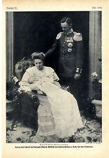 Herzog Karl Eduard u. Herzogin Viktoria Adelheid v. Sachsen- Koburg...Bildd.1906