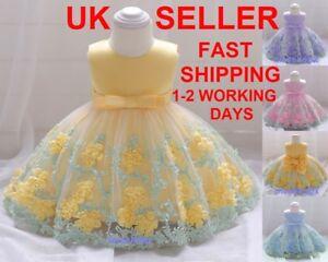 Girls Baby Party Dress Flower Bridesmaid Princess Wedding Christening Communion
