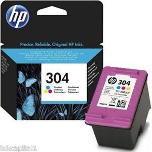 1 x HP No 304 Tri Colour Original OEM Inkjet Cartridge N9K05AE UUS