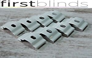 10 x Vertical Blind top fix brackets clips for slimline 28mm/29mm/30mm head rail