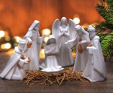 Ceramic 7 pc Nativity Set - hand painted porcelain -  MFBX15484