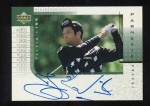 2001 Upper Deck Golf Players Ink  Jesper Parnevik Auto    On Card Signature