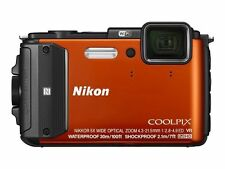 Nikon COOLPIX AW130 16.0 MP Digital Camera - Orange + 32GB SD Card