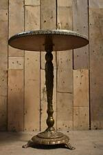Retro Vintage Decorative Brass Effect & Marble Effect Side / Wine Table