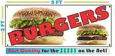 Full Color Burgers All Weather Banner Sign Hamburgers Cheeseburgers Fries Steaks