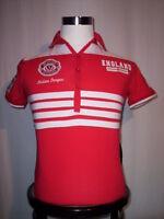 Maglietta polo Alcott uomo maglia nazionale calcio England manica corta cotone L