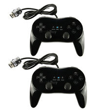 2 Classic Controller Pro For Nintendo Wii Remote BLACK US Ship