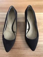 Ladies Brown/ Black Suede Kitten Heel Court Shoes By Target - Size 8.5 - Cheap