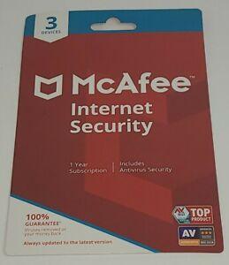 McAfee Internet Security - 3 Device / 1-Year - MIS00EWM3RAA - Retail $39.95