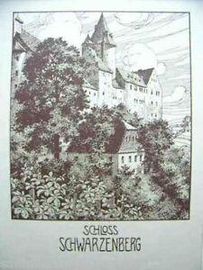 LS1258 Ansicht Schloss Schwarzenberg Falblithographie um 1900