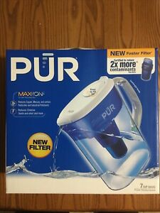 PUR Max-Ion 7 Cup Water Pitcher Filtration System With 1 Filter