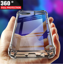 360 Luxury Shockproof Bumper Clear Case Glass Screen Cover for Apple iPhone 7